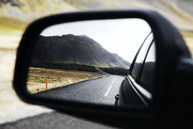 the road you see when moving your car long-distance
